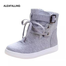 Aleafalling 2017 New women's autumn spring boots ankle shoes