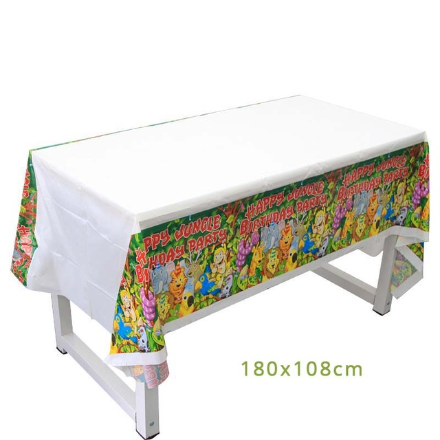 1pcs tablecloth Monkey 1st birthday decorations 5c64f9ae5e140