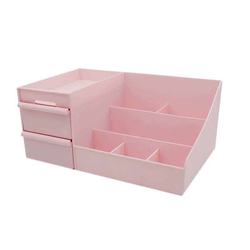 Cosmetic Storage Box Drawer Desktop Plastic Makeup Dressing Table Skin Care Rack House Organizer Container Mobile Phone Sundri