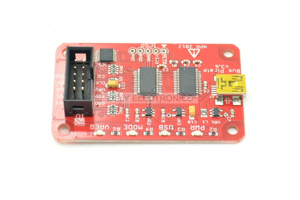 Bus Pirate v3.6 universal serial interface bus 009 auckland