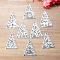 Cute 8Pcs Mini Tree Metal Cutting Dies For Scrapbooking Card Album Photo Embossing Christmas Decorative Craft