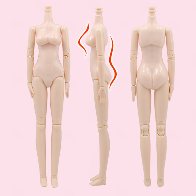 Diy Nude Doll Bjd Joint Body 12 Inch White Skin Articulated Body For