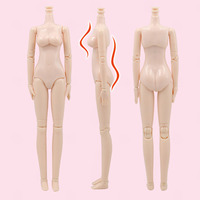 DIY Nude Doll BJD Joint Body 12 Inch WHITE Skin Articulated Body for 1/6 Doll Accessory