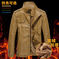 Autumn and winter men's clothing warm thickening motorcycle leather jacket men faux fur leather jackets free shipping f73