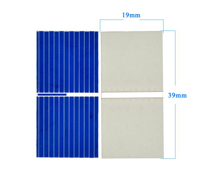 Aoshike 100pcs Mnin 39*19MM solar panel for DIY solar cell DIY cell phone charging 4