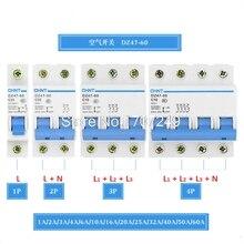 1P 2P 3P 4P однополярный/биполярный/три провода/четыре провода выключатель защиты 1A-60A бытовой промышленности автоматический выключатель