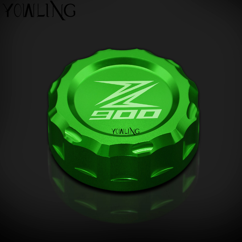 For Kawasaki Z900 Z 900 z900abs 2017 Motorcycle z900 CNC Aluminum Cylinder Rear Fuel Brake Fluid Reservoir Cover Tank Cap
