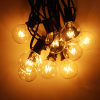 Warm White 25 Clear Bulbs G40 Fairy Lights Globe Party Christmas String Light For Garden Tree Street Wedding Outdoor Indoor Dec
