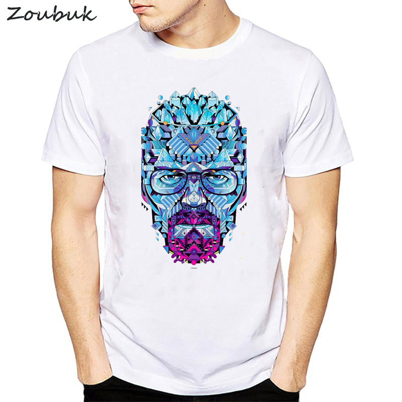 Breaking Bad heisenberg Walter White jessie pinkman   t  -  shirt   short sleeve casual tshirt Breathable comfort male plus size   t     shirt