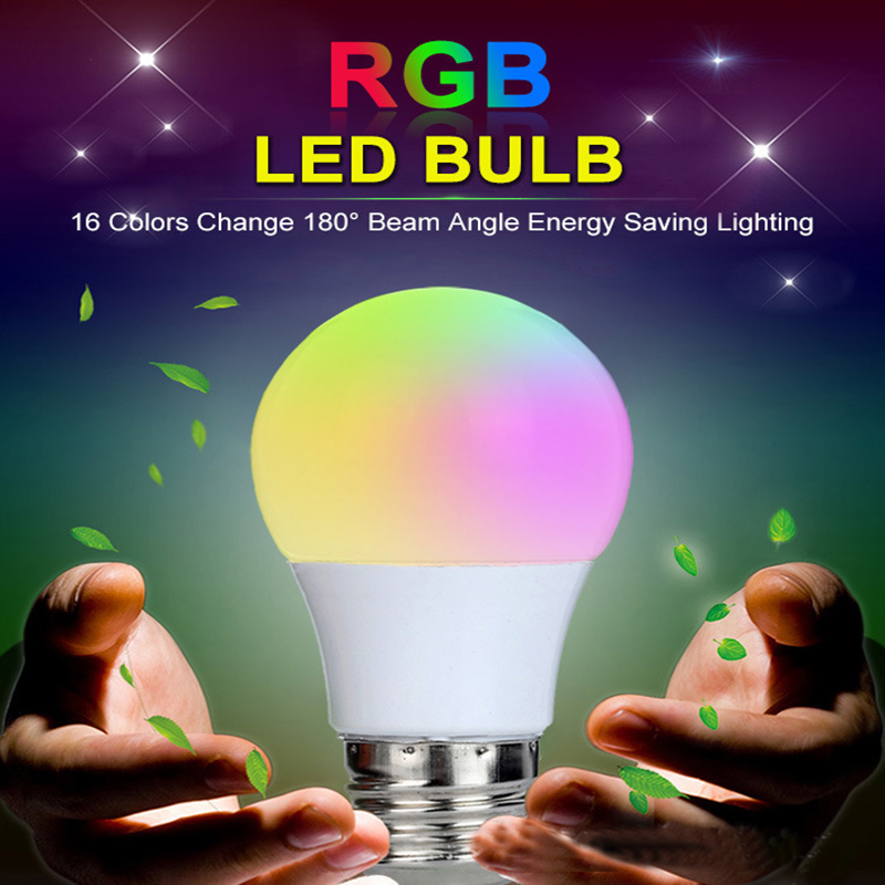AIMIHUO E27 LED Bulb 16 Colors RGB Light Smart LED Bulbs E27 lamp with Remote Control for Home AC 85-265V 3W 5W 10W Led Light agm rgb led bulb lamp night light 3w 10w e27 luminaria dimmer 16 colors changeable 24 keys remote for home holiday decoration