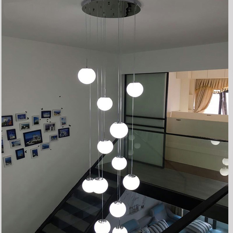Led Decoration Lighting Fixture Glass Pendant Lamp Led Staircase Lighting Spiral Pendant Light Fixture Lamp Round Pendant Lamps Pendant Lights Aliexpress