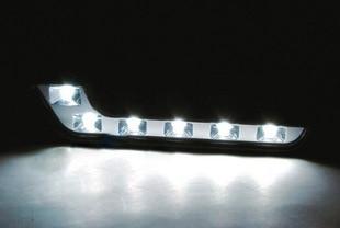 2 parça Super Bright White 6 LED DRL 6000K 7 Formalı Avtomobil, - Avtomobil işıqları - Fotoqrafiya 2