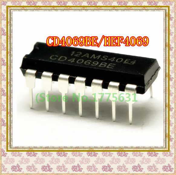 20pcs/lot CD4069BE CD4069UBE HEF4069 DIP-14