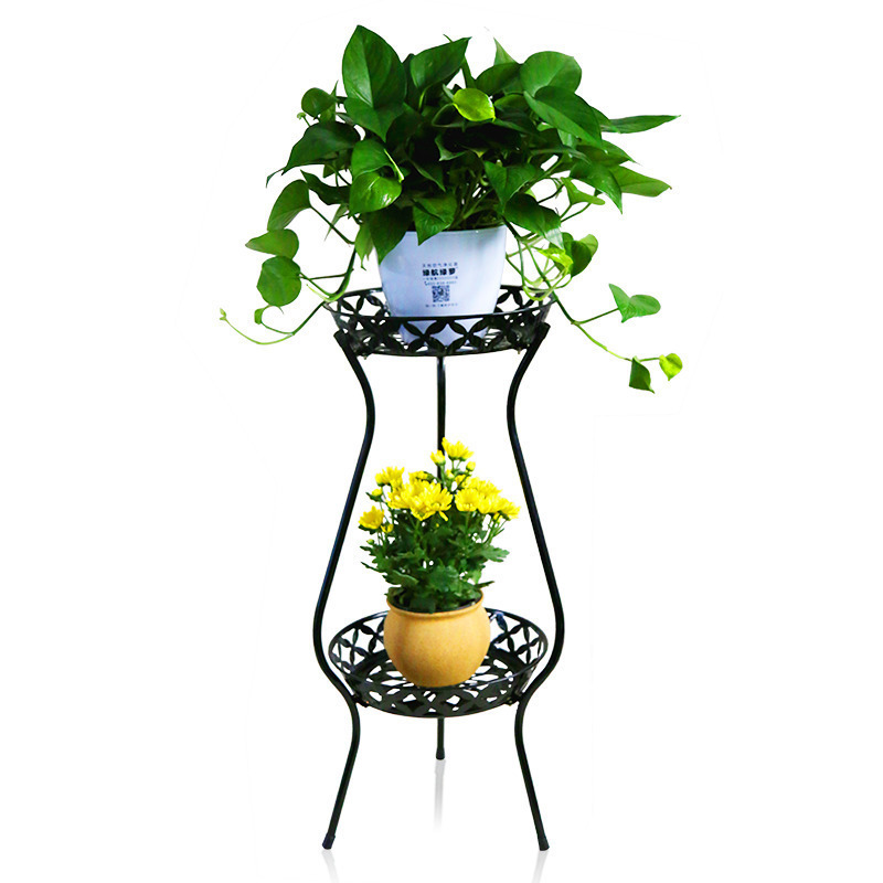 plants garden balcony metal outdoor living room European style modern iron decoration green flower shelf shelves flowerpot rack european standard 25ft home garden flexible natural latex water pipe green