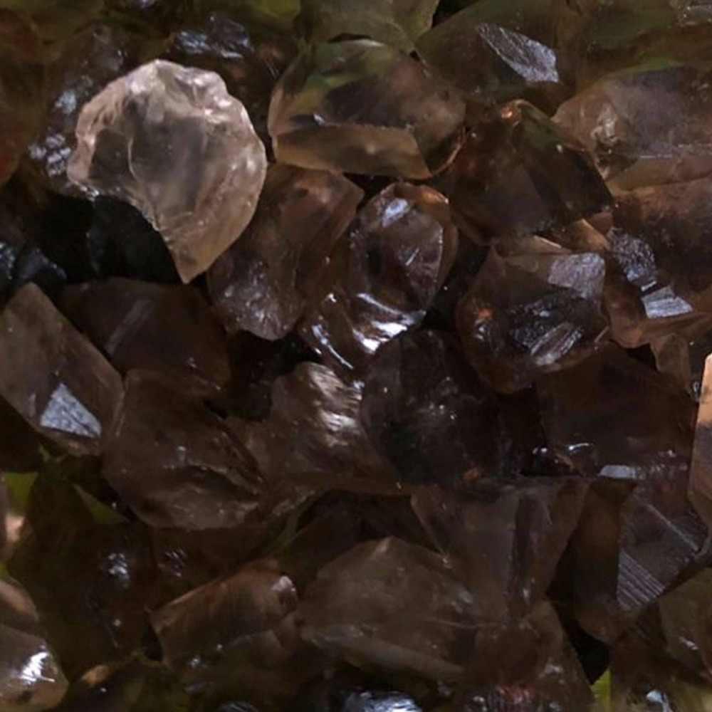 Druzy 100กรัมดิบธรรมชาติCitrinesss Smokysควอตซ์คริสตัลหินขรุขระเครื่องประดับตกแต่งโชคดีแร่พลังงานจักรหิน