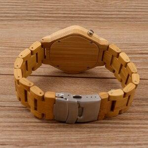 Image 5 - relogio BOBO BIRD LED Wood Mens Watches Digital Watch Men Night Vision Calendar Quartz Wristwatch Minimal Time Display Dropship