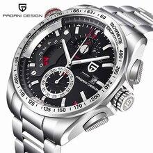 De lujo de la Marca PAGANI DISEÑO Cronógrafo Relojes Deportivos Hombres reloj hombre Reloj de Cuarzo de Acero Inoxidable Completa Relojes Relogio masculino