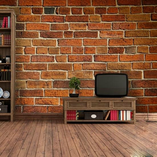 3d Brick Wallpaper Non Woven Mural Ikea Fresco Wallpapers For Living Room Custom Made