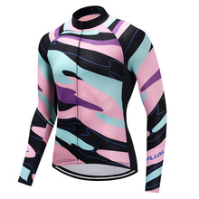 FUALRNY Men's Spring/Autumn Long Sleeves Cycling Jerseys Quick Dry Bike Clothes Breathable Team Sportswear Ropa Ciclismo Maillot