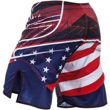 Муай Тай шорты ММА американский герой боевые шорты тренировки для тайских боксеров шорты и боксерские шорты