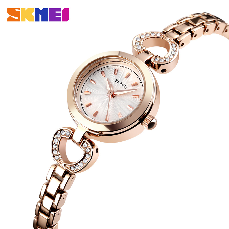 SKMEI Luxury Women Watches Quartz Wristwatches Fashion Casual Simple 3bar Waterproof Alloy Band Ladies Watch Reloj Mujer 1408