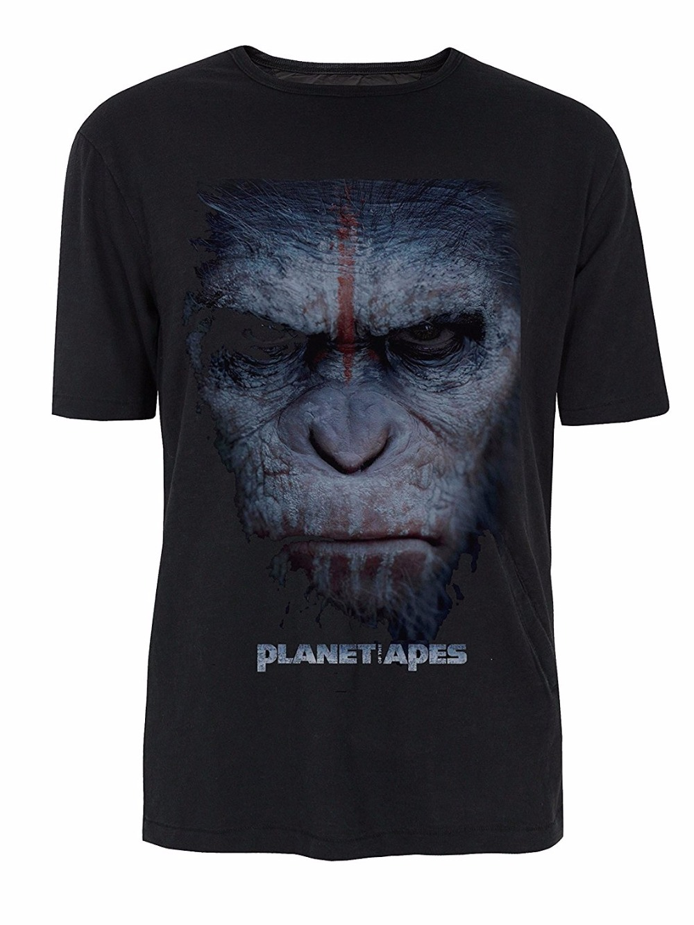War Paint Caesar Planet Of The Apes T-Shirt Summer Cotton Casual T Shirts Novelty Cool T ...