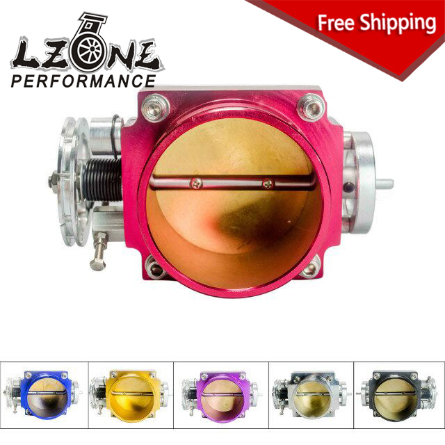 LZONE RACING - FREE SHIPPING NEW 90MM THROTTLE BODY PERFORMANCE INTAKE MANIFOLD BILLET ALUMINUM HIGH FLOW JR6990 pqy racing free shipping new 90mm throttle body performance intake manifold billet aluminum high flow pqy6990