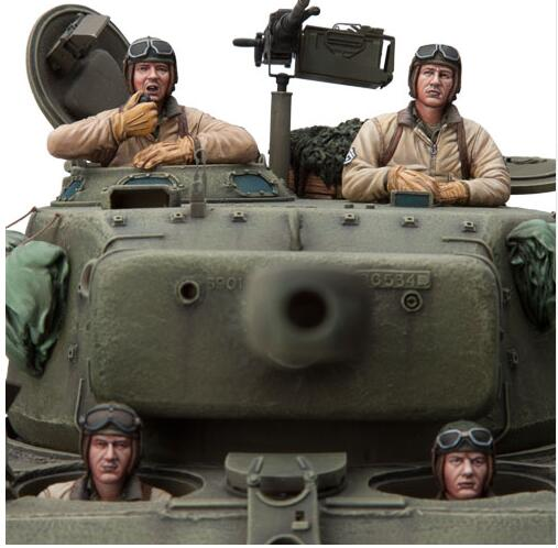1/16 U.S. Tank Crew INCLUDE 4 soldiers Resin Model Miniature figure Unassembly Unpainted