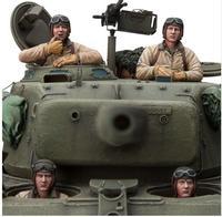 1/16 U.S. Tank Crew INCLUDE 4 soldiers Resin Model Miniature figure Unassembly Unpainted