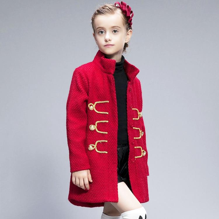 Kids coats 2016 new fashion autumn winter brand girls coats retro children jackets girl clothings high
