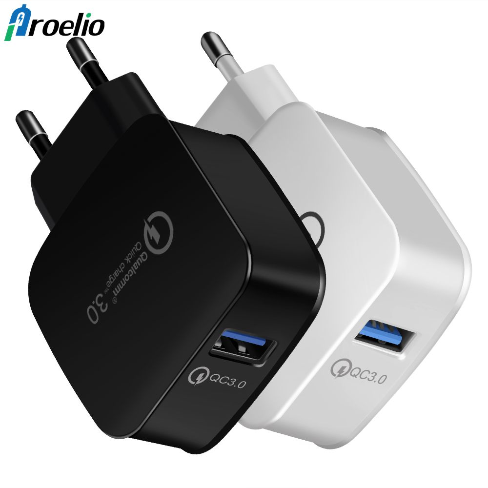 Quick Charge 3.0 EU Plug USB Universal Phone Charger Fast Charger Wall Charging Travel For iPhone 7 8 Plus Samsung Galaxy S8