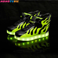 USB Charger glowing sneakers Lighted shoes for Boys Girls Casual led shoes for children led slippers Luminous childrens Sneakers
