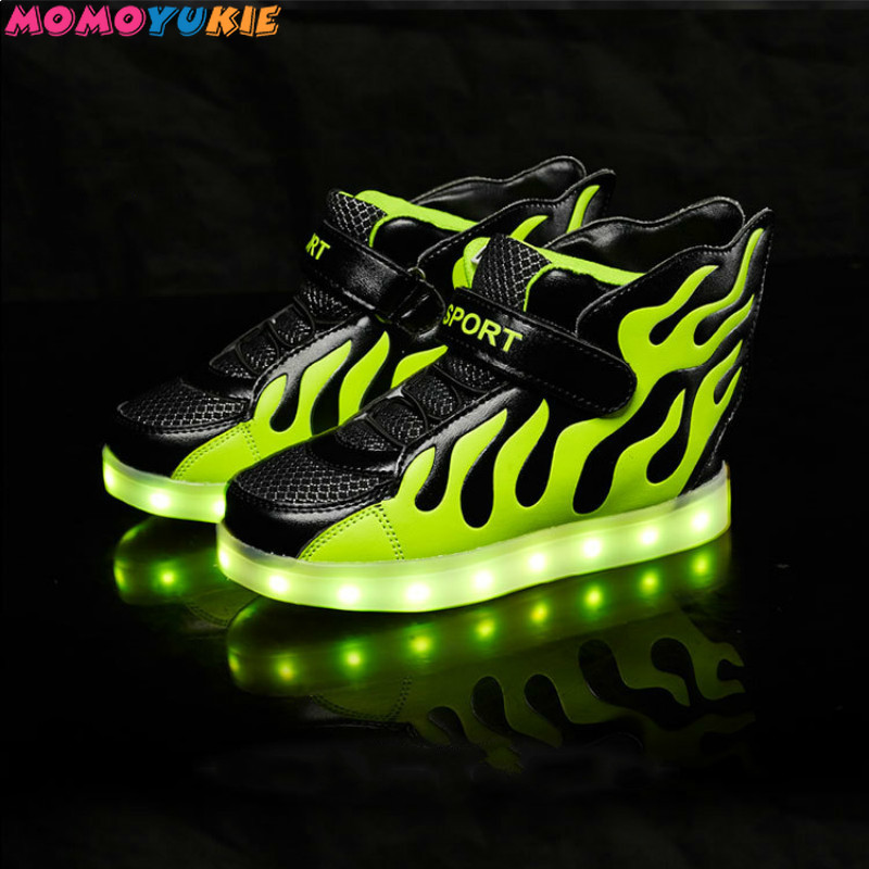USB Charger glowing sneakers Lighted