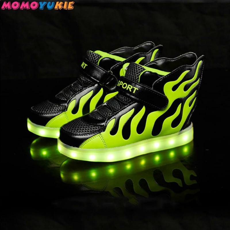 USB зарядное устройство светящиеся кроссовки светящаяся обувь для мальчиков и девочек Повседневная светодиодная обувь для детей светодиодн...