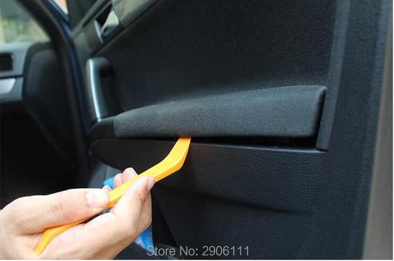 4 قطعة راديو السيارة تفكيك البلاستيك مجموعة أدوات ل ألفا روميو 147 159 156 ميتو جيوليتا 166 اكسسوارات السيارات التصميم