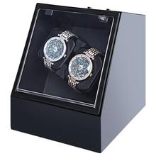 Caja De Reloj De lujo Reloj Automático Winder Caja De Almacenamiento Display Colección Reloj Cajas Organizador Titular de Bobinadoras Reloj EE. UU. Plug