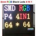 Interior 4mm alta difinition, ultra claro, sinal 64*64 pixlel, 256mm * 256 grande painel de led, 4 EM 1 painel de exibição de vídeo full color p4