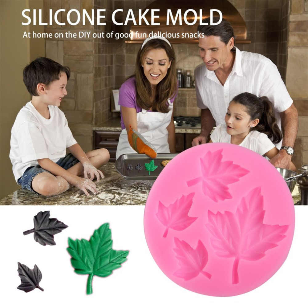 Lá Phong 3D Khuôn Silicon Socola Bánh Kẹo Trang Trí Dụng Cụ Cupcake Xà Phòng Xông Kẹo Cao Su Dán Khuôn