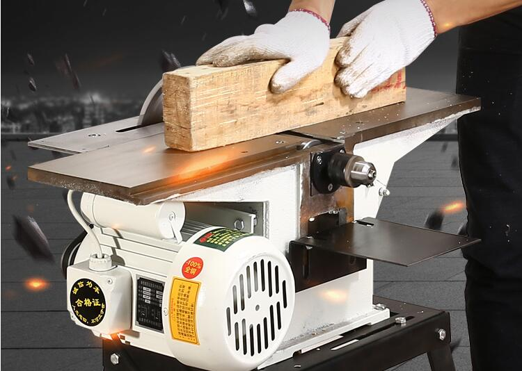 MB-120 Multi-function Desktop Woodworking Machine, Electric Planer, Electric Saw, Drilling Three-in-one
