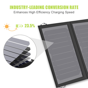 ALLPOWERS Solar Panel 10W 5V Solar Charger Portable Solar Battery Chargers Charging for Phone for Hiking etc. Outdoors. 1