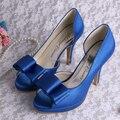 Wedopus Фирменное Наименование Роскошный Темно-Синий Сексуальные Летние Обувь женская Высокий Каблук Слайды
