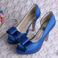Wedopus Brand Name Luxury Dark Blue Sexy Summer Shoes Women's High Heel Slides