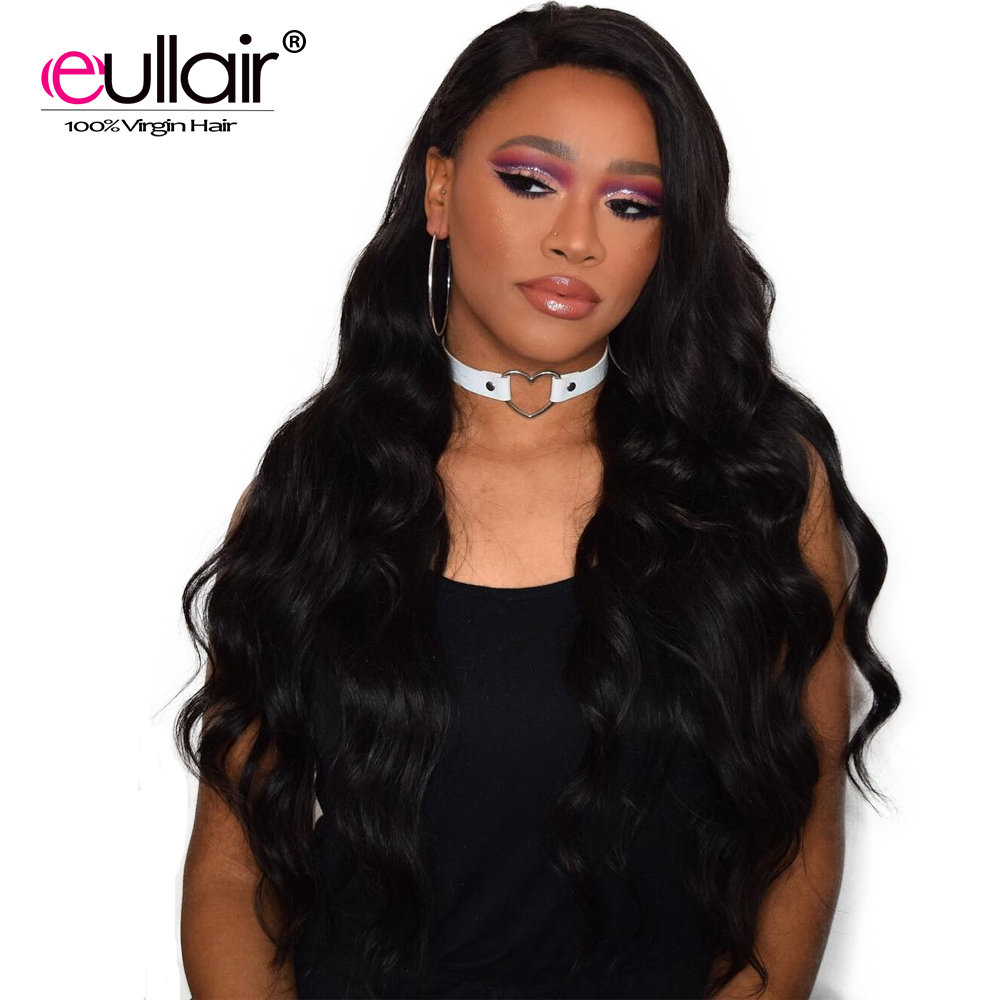 Eullair Malaysian 360 Lace Frontal Wigs Body Wave For Black Women 150% Remy Human Hair Lace Front Wigs With Baby Hair 8-24 Inch(China)