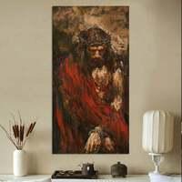 Peint à la main Abstraite Jésus Portrait Peintures à l'huile Moderne Grande religion Décor de Mur de Toile art Figure Du Christ image