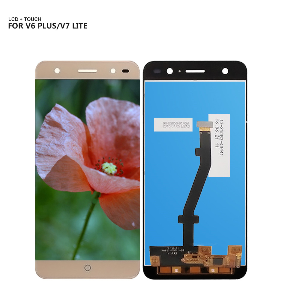 Free Shiping For ZTE Blade V6 Plus Touch Screen Digitizer Glass LCD Display Assembly For V7 Lite lcd