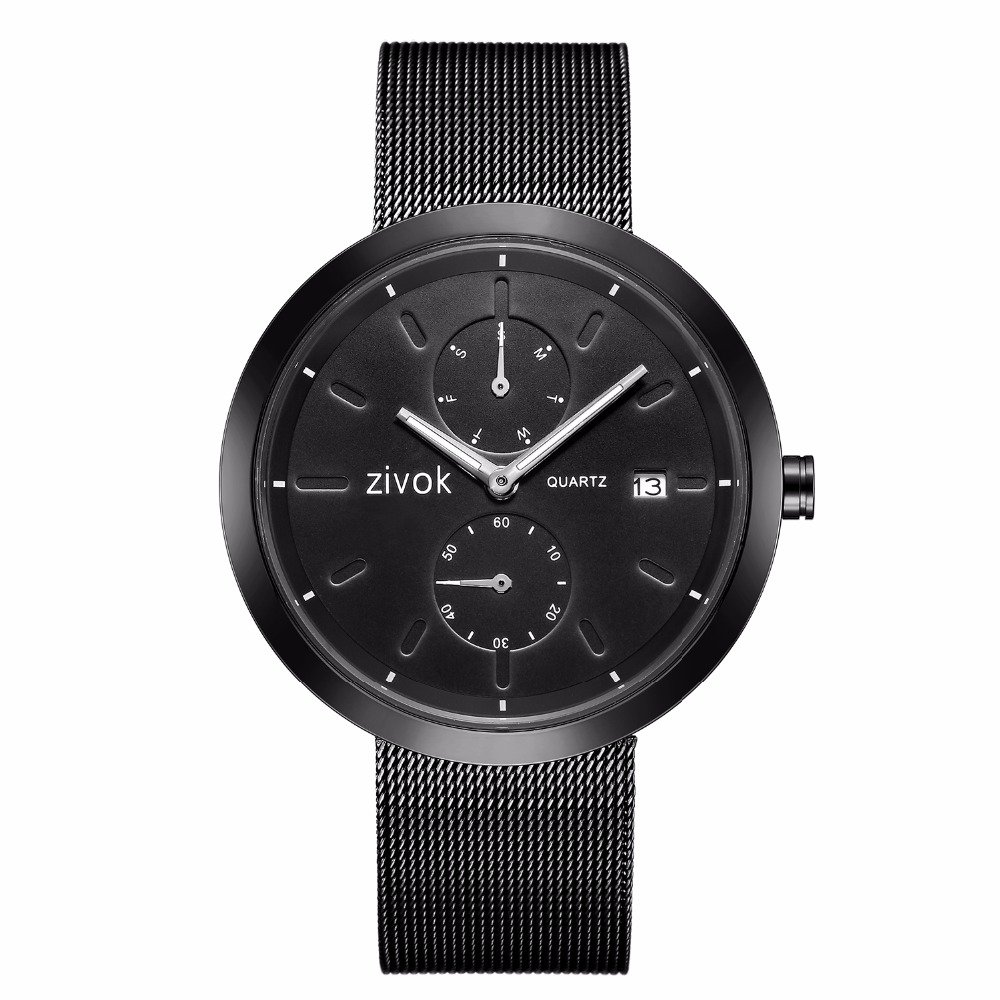 zivok Fashion Quartz Men Watch Relogio Masculino Top Brand Black Army Military Wrist Watches Clock Men Bayan Kol Saati xfcs hannah martin men s sport watches top brand wrist watch men watch fashion military men s watch clock kol saati relogio masculino