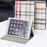 Grid Box Plaid Tables Case for iPad Mini 3 4 Air 1 2 Pro 9.7 2017/18 10.5 Stand Pocket Wake Smart Cover cases Protective Shell