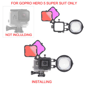 Image 4 - 3in1 Action Camera Dive Filter Set with 16X Macro Lens for Gopro Hero 7 6 5 Black Underwater Diving Red Magenta Dive Lens Filter