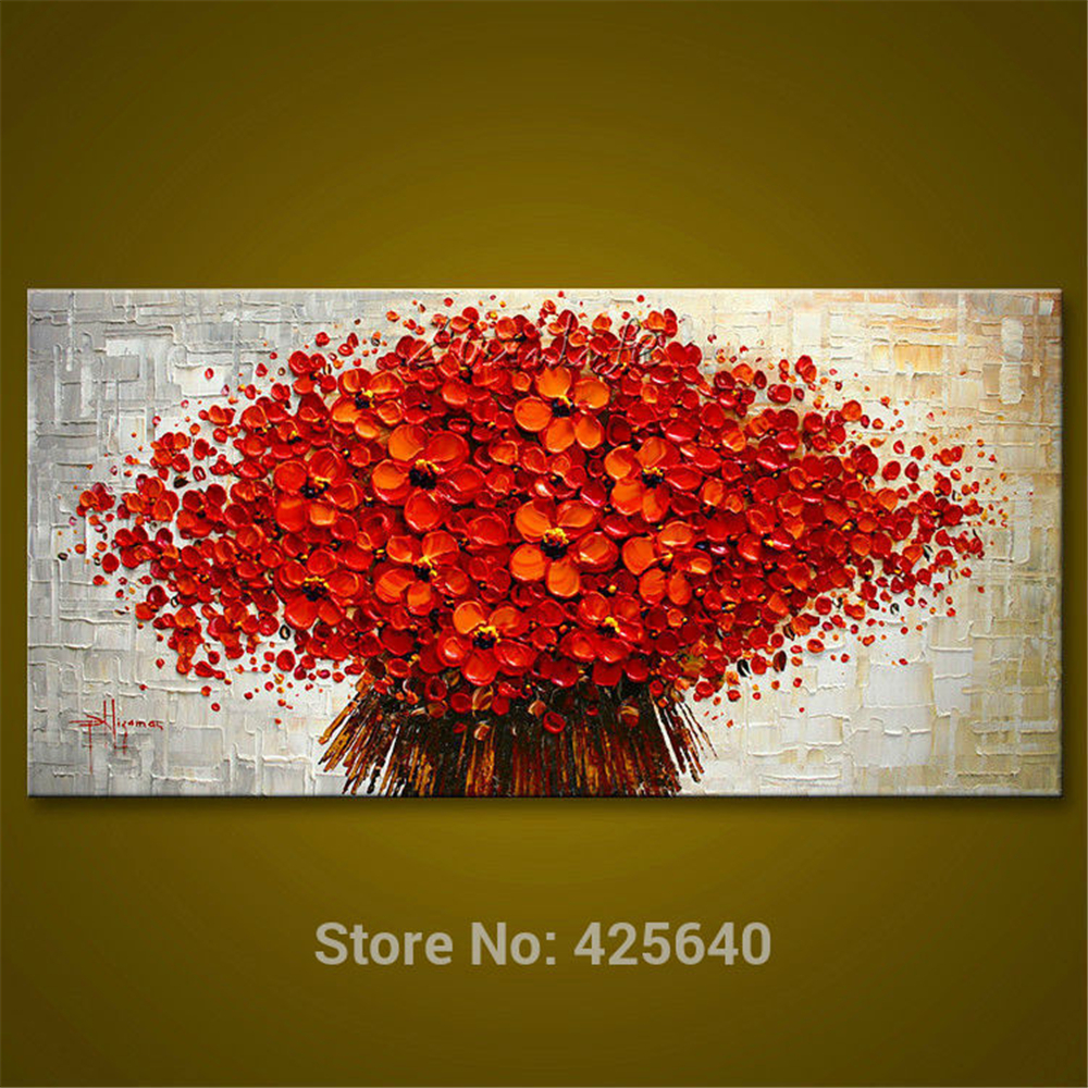 Aliexpresscom Buy Wall Painting Flower Hand Painted