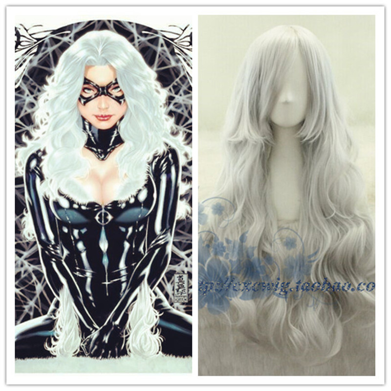 Movie X-men Storm Women Silver White Wig Ororo Munroe Cosplay Wigs Costumes withe hair net fress